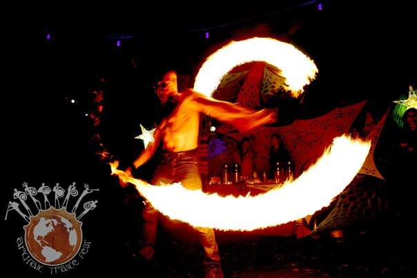 Fire-show на Archaic Trance party